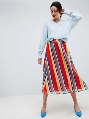 Gestuz Regnbågsmönstrad lång kjol Multistripe