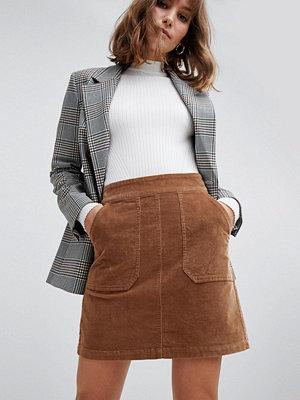 Warehouse Beige minikjol med a-linjadform