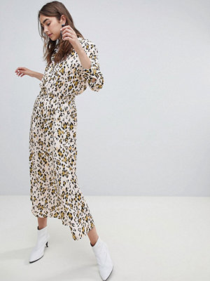 Gestuz Leopardpälsmönstrad kjol Golden leopard