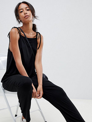 Asos Tall Minimalistisk jumpsuit i jersey med knytband