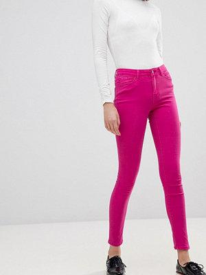 Vero Moda Skinnyjeans med färgblock Rödbetslila