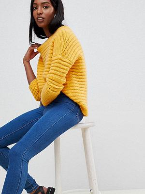 Noisy May Tall Blåa skinny jeans med hög midja Mellanblå