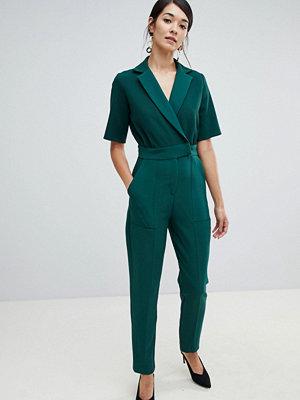 Closet London Smaragdgrön tuxedo jumpsuit smaragdgrön