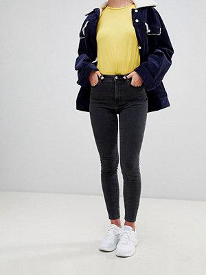 Weekday Body svarta superskinny jeans med hög midja i ekologisk bomull Perfekt svart