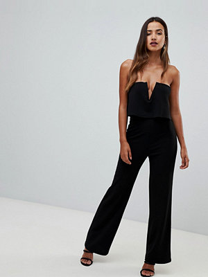 Girl In Mind Bandeau jumpsuit med två lager