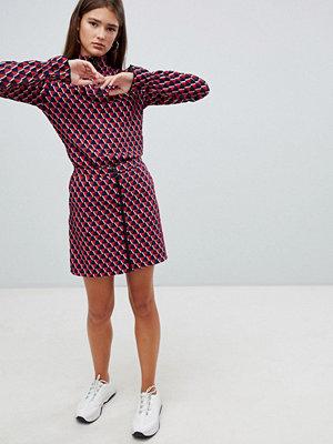 Noisy May Minikjol med texturerat mönster och dragkedja Molten Lava-kam