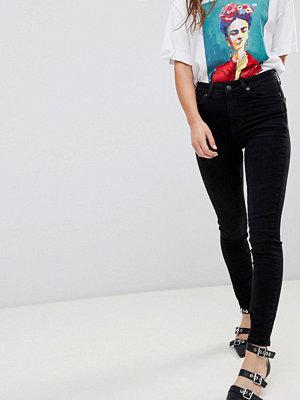 New Look Svarta jeans med hög midja i smal passform