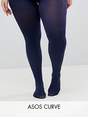 ASOS Curve Marinblå superstretchiga 90 deniertights