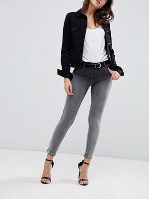 Replay Touch super beskurna jeans med extra hög midja i ombre svart-tvätt