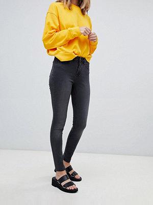 Wåven Asa Smala jeans i medelhög skärning Earl grey