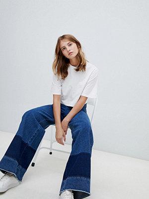 Wåven Nella Blockfärgade vida jeans Peel blue