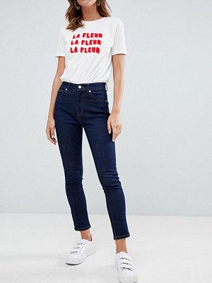 French Connection Authentic Skinny jeans med hög midja Indigoblå