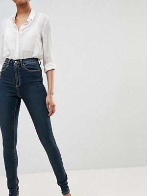 Asos Tall Sculpt me _ Premium Violblå jeans London-blåtvätt