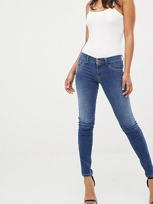 Diesel Livier Superskinny jeans med låg midja Ljusblå