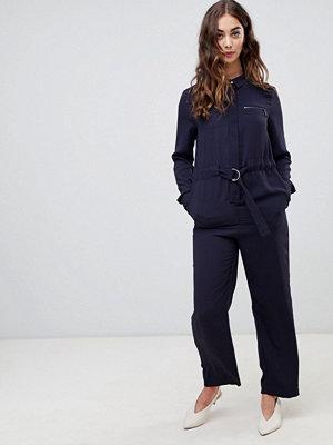 Warehouse Marinblå jumpsuit