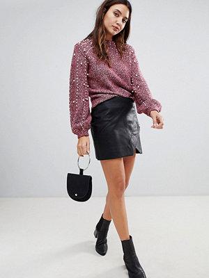 Blank NYC Minikjol i läderimitation