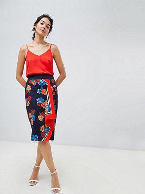Oasis Midi pennkjol i sjal mönster