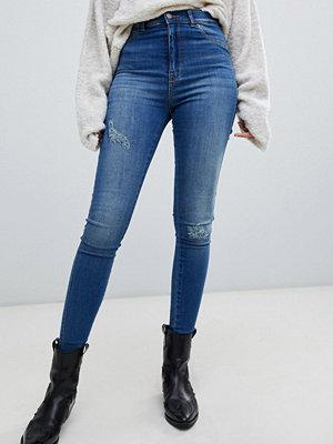 Jeans - Dr. Denim Solitaire Super skinny-jeans med hög midja och slitna detaljer Vagabond blue
