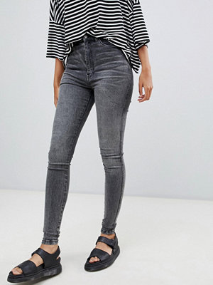 Dr. Denim Moxy Skinny jeans med hög midja Boulder grey