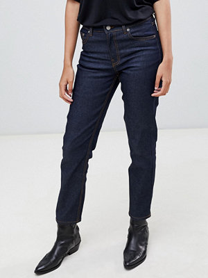 Dr. Denim Edie Smala mom-jeans med hög midja Rinsed blue