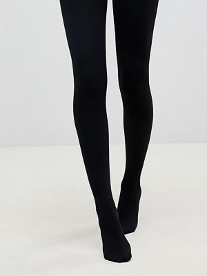 Strumpbyxor - Pretty Polly Svarta opak-tights 200 denier i fleece-liknande material