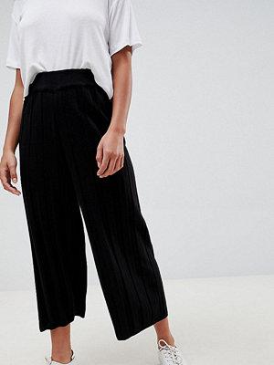 ASOS Petite Stickade culotte-byxor med bred ribbning