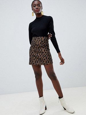 Warehouse Leopardmönstrad a-linjeformad kjol
