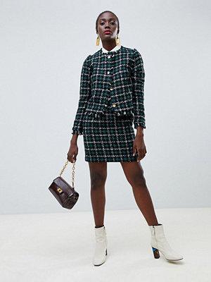 Warehouse Pelmet-kjol i tweed