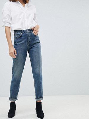 Selected Femme Mom-jeans Mellanblå denim