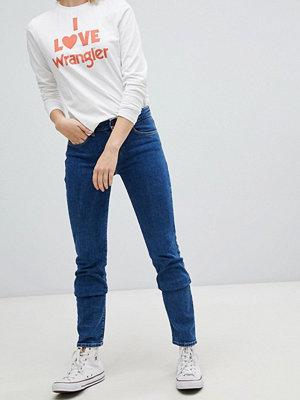 Wrangler Medelhöga jeans med rak passform Mid rocks