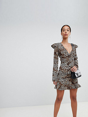 Fashion Union Tall Leopardmönstrad minikjol Leopard
