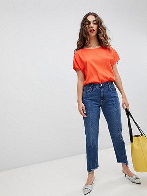 Mango Korta fransiga jeans med raka ben