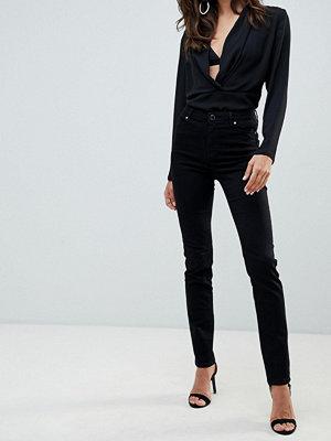 Morgan Svarta skinny jeans med låg midja