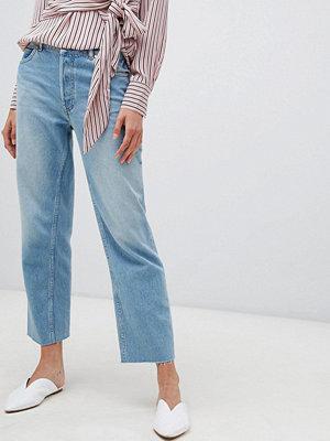 Warehouse Ljustvättade jeans med raka ben Ljus tvätt