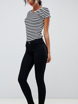 Only Tall Svarta skinny jeans med pushup-effekt