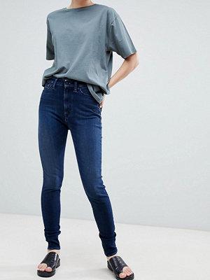Kings Of Indigo Kimberley Skinny jeans med fasta ben i ekologisk bomull Mid vintage marble