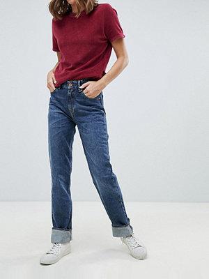 Kings Of Indigo Lucy Mom-jeans i ekologisk bomull med hög midja Blue marble