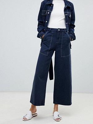 FAE Vida jeans med kontrasterande söm Del av set Indigo