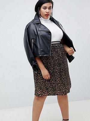 Junarose Plisserad kjol med djurmönster