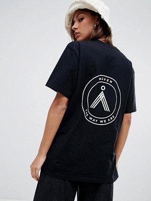 Wåven Sten utsmyckad t-shirt