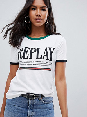 Replay Randig t-shirt