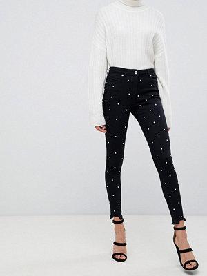 Parisian Strassprydda skinny jeans