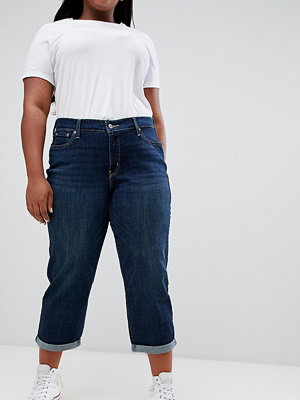 Levi's Plus Levis Mörka jeans i boyfriendmodell i plusstorlek Newport way