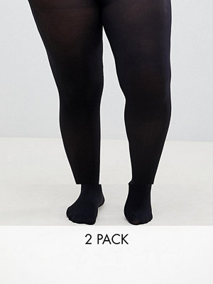 ASOS Curve 2-pack tights i 60 denier i extra stretchig passform
