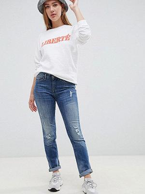 Blend She Lala Slitna jeans med smal passform Vintage blue denim