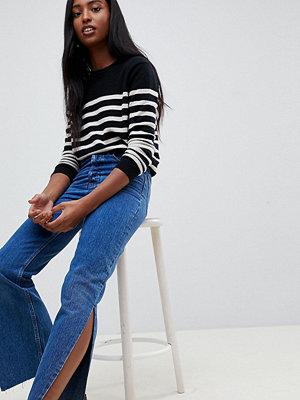 Asos Tall Recycled Florence Stentvättade blå jeans med raka ben och slitsar i sidan Stentvätt
