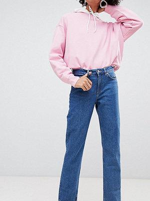Weekday Jeans med medelhög midja och raka ben i ekologisk bomull Basblå