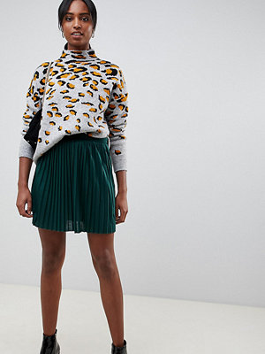 ASOS DESIGN Tall plisserad minikjol i jersey Skogsgrön