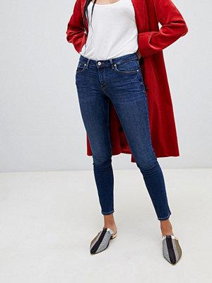 Mango Blå skinny jeans i ekologisk bomull Mörkblå