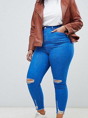 New Look Curve New Look Jeans med slitna knän